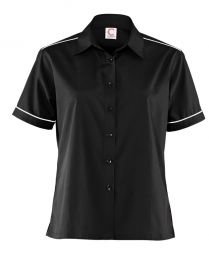 Ladies Short Sleeve Shirt with piping detail